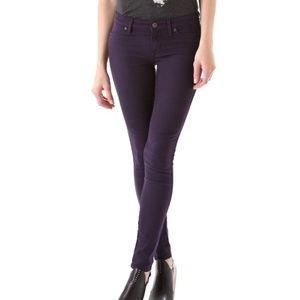 Rich & Skinny Ankle Denim Jeans stretch purple